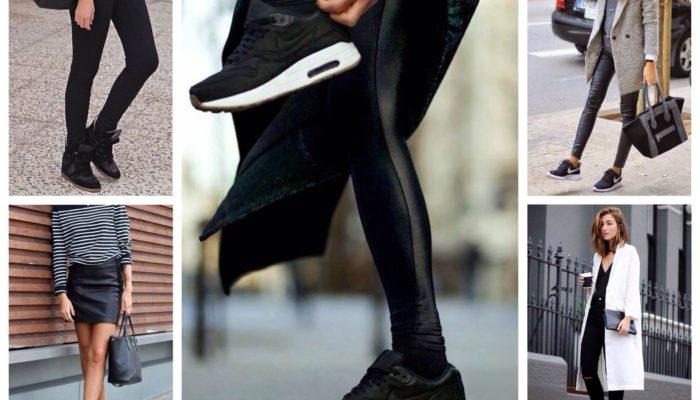 Que porter avec des baskets noires? (55 photos)