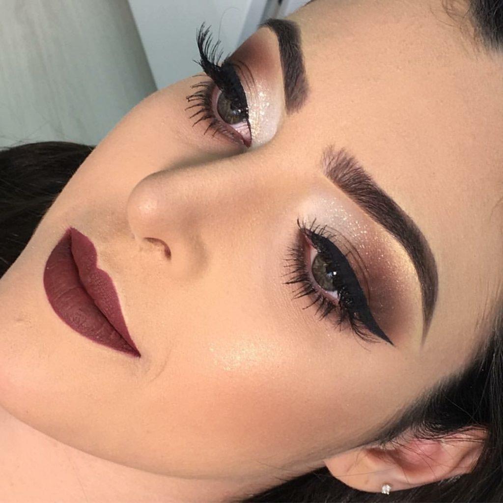 Maquillage dans les tons marron (50 photos)