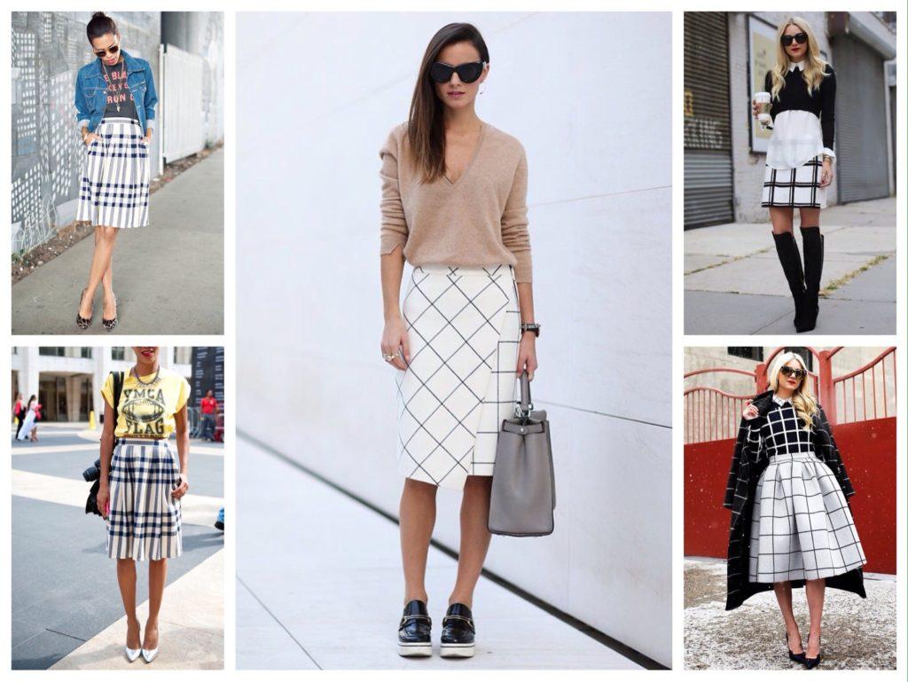 Que porter avec une jupe à carreaux? (50 photos)