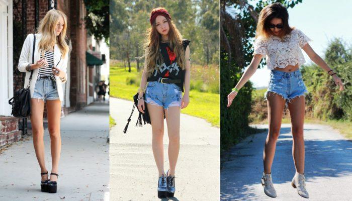 Comment porter un short taille haute? (50 photos)