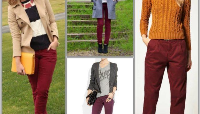 Comment porter des vêtements bordeaux (57 photos)