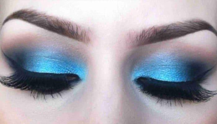 Maquillage bleu pour vos yeux (50 photos)