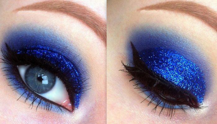 Maquillage bleu: élégant et lumineux (50 photos)