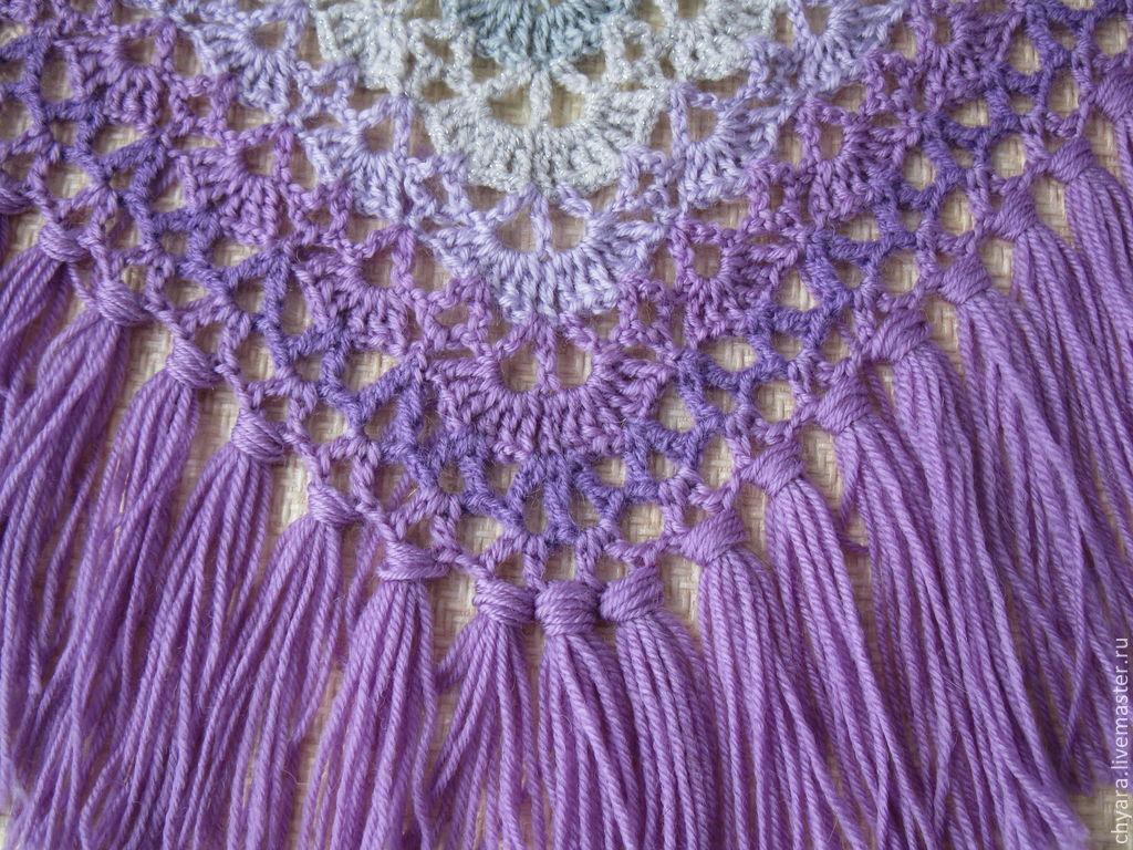 Crochet châle: patrons de tricot, la description, ainsi que des modèles pour les modèles