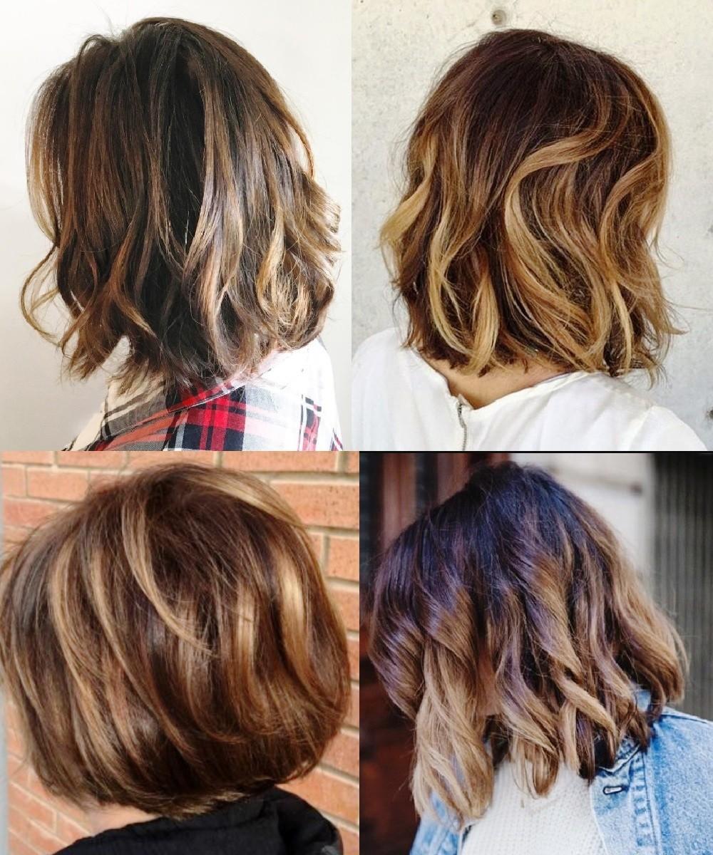 Teinture à la mode pour cheveux courts 2019 (52 photos)