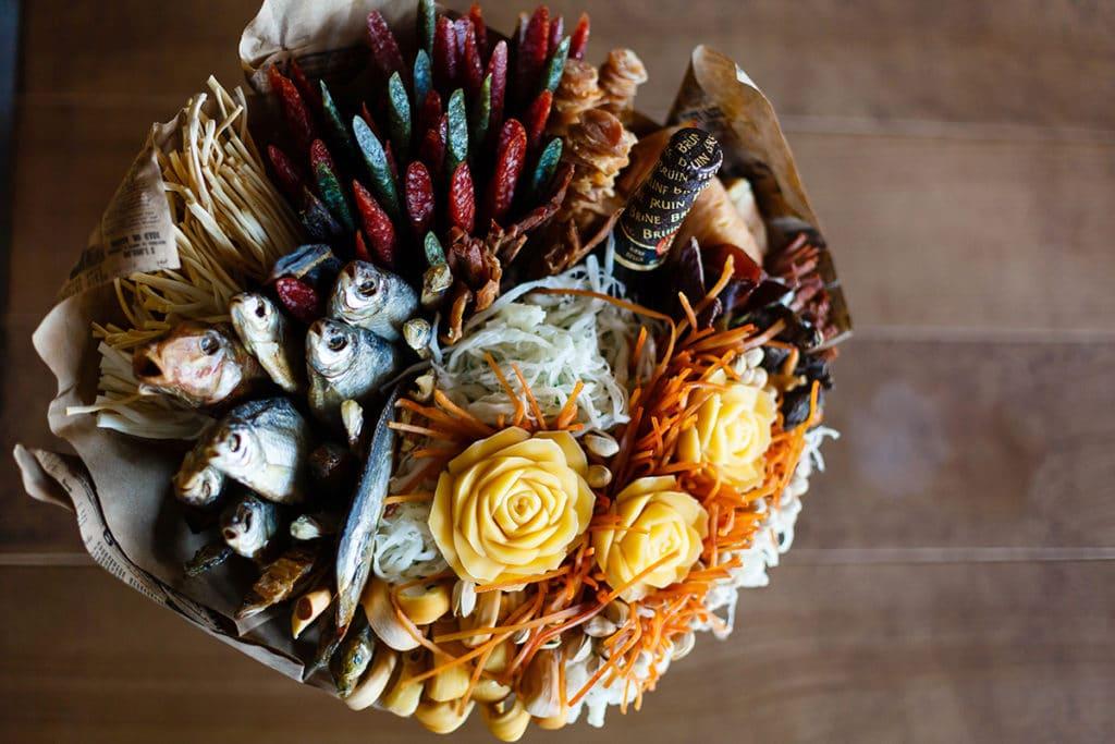 Bouquets de bricolage pour la nourriture et l'alcool