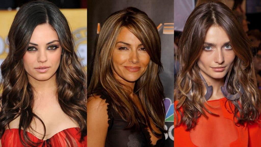 Coloration sur cheveux foncés de longueur moyenne (51 photos)