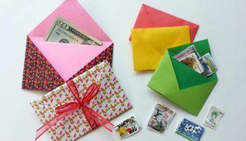 Enveloppe de papier à faire soi-même: technologie, décoration