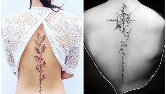 Tatouages du dos des femmes - idées intéressantes (69 photos)